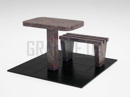 Лавка + Стіл LS-01 Кишинський граніт