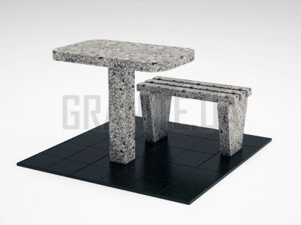 Лавка + Стіл LS-01 Костянтинівський граніт