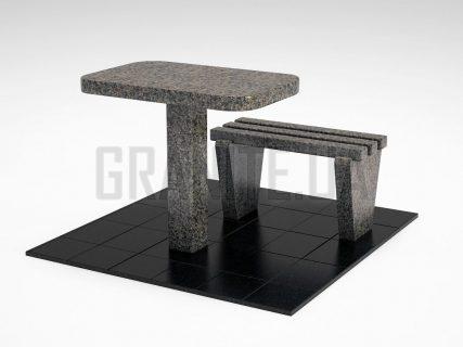Лавка + Стіл LS-01 Маславський граніт