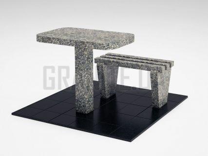Лавка + Стіл LS-01 Танський граніт