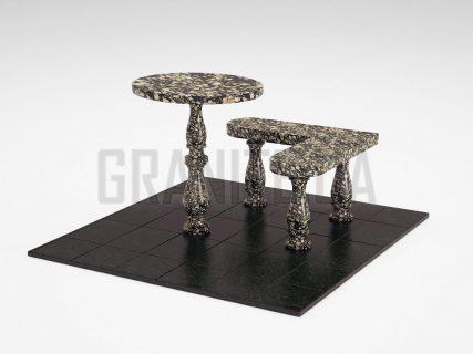 Лавка + Стіл LS-02 Корнинський граніт