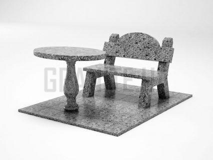 Лавка + Стіл LS-03 Костянтинівський граніт