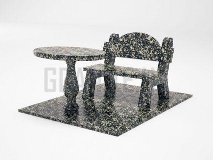 Лавка + Стіл LS-03 Корнинський граніт