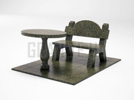 Лавка + Стіл LS-03 Маславський граніт