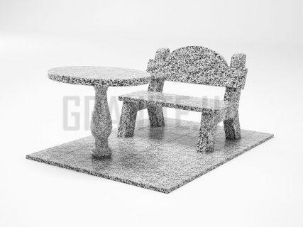 Лавка + Стіл LS-03 Покостівський граніт