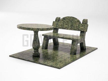 Лавка + Стіл LS-03 Рогівський граніт