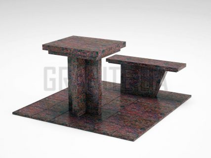 Лавка + Стіл LS-04 Кишинський граніт