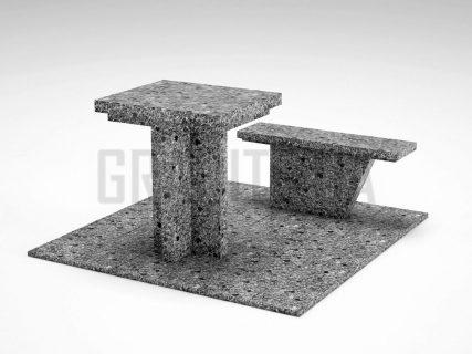 Лавка + Стіл LS-04 Костянтинівський граніт