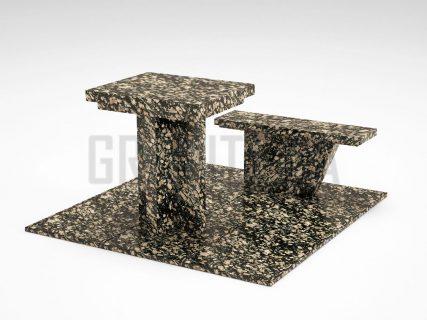 Лавка + Стіл LS-04 Корнинський граніт