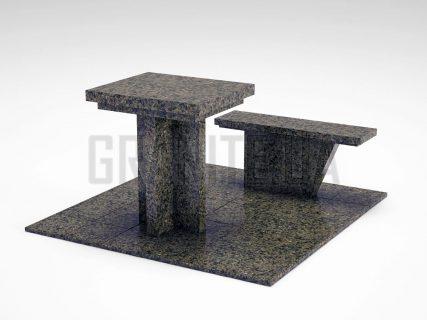 Лавка + Стіл LS-04 Маславський граніт