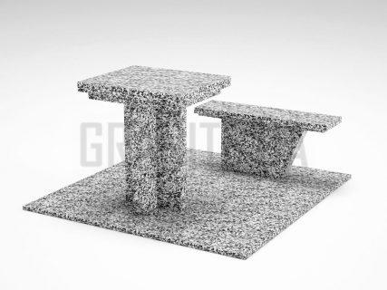 Лавка + Стіл LS-04 Покостівський граніт