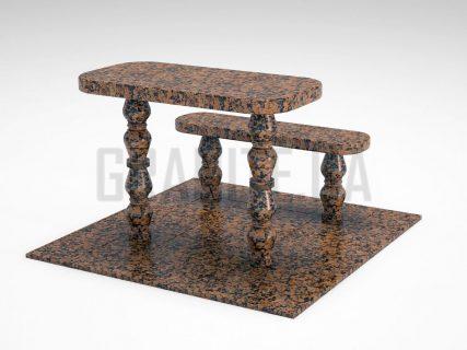 Лавка + Стіл LS-05 Омел'янівський граніт