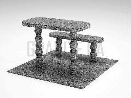 Лавка + Стіл LS-05 Костянтинівський граніт