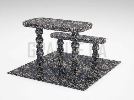 Лавка + Стіл LS-05 Корнинський граніт