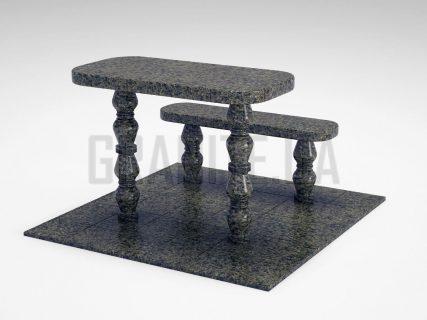Лавка + Стіл LS-05 Маславський граніт