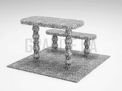 Лавка + Стіл LS-05 Покостівський граніт
