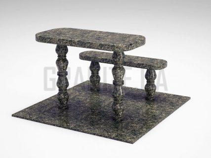 Лавка + Стіл LS-05 Рогівський граніт