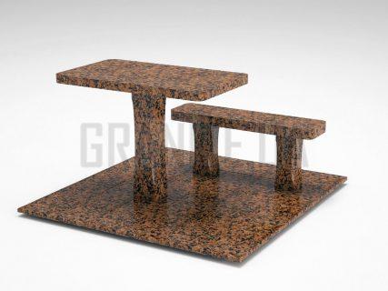 Лавка + Стіл LS-06 Омел'янівський граніт