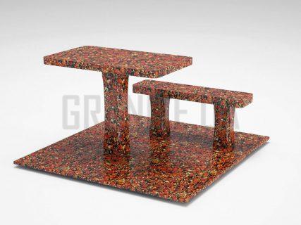 Лавка + Стіл LS-06 Капустинський граніт