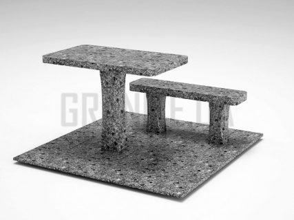 Лавка + Стіл LS-06 Костянтинівський граніт