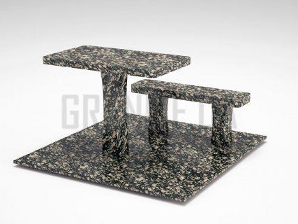 Лавка + Стіл LS-06 Корнинський граніт