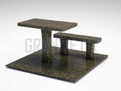 Лавка + Стіл LS-06 Маславський граніт