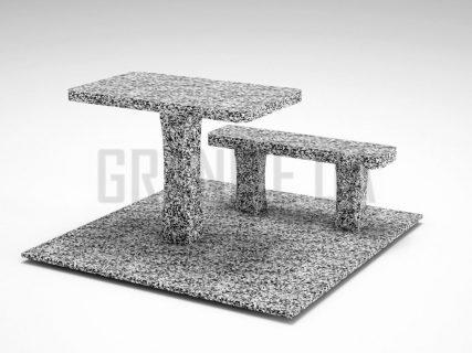 Лавка + Стіл LS-06 Покостівський граніт