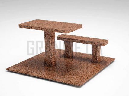 Лавка + Стіл LS-06 Симонівський граніт