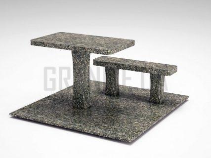 Лавка + Стіл LS-06 Танський граніт