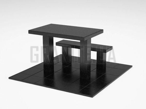 Лавка + Стіл LS-07 Букинський габро