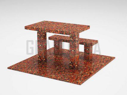 Лавка + Стіл LS-07 Капустинський граніт