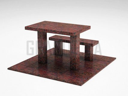 Лавка + Стіл LS-07 Кишинський граніт