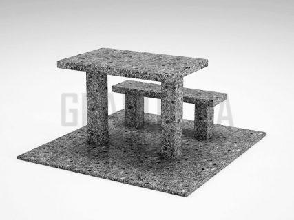 Лавка + Стіл LS-07 Костянтинівський граніт