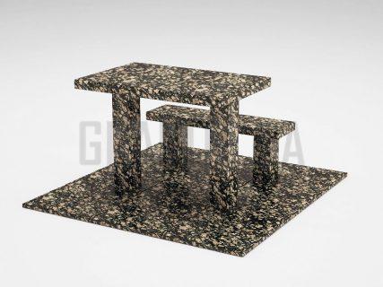 Лавка + Стіл LS-07 Корнинський граніт