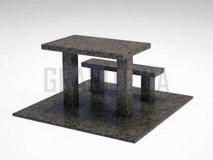 Лавка + Стіл LS-07 Маславський граніт