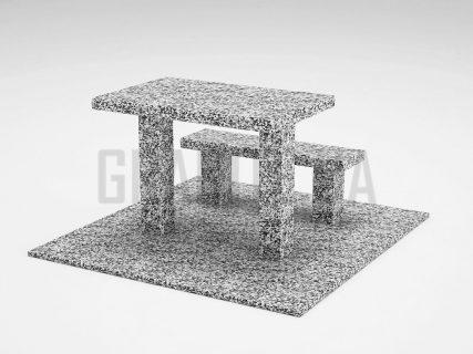 Лавка + Стіл LS-07 Покостівський граніт