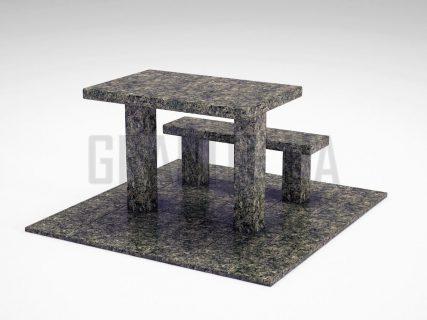 Лавка + Стіл LS-07 Рогівський граніт