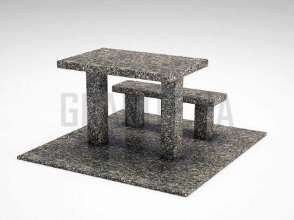 Лавка + Стіл LS-07 Танський граніт