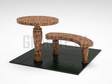 Лавка + Стіл LS-08 Омел'янівський граніт