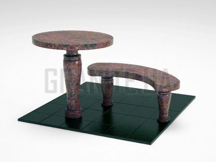 Лавка + Стіл LS-08 Кишинський граніт