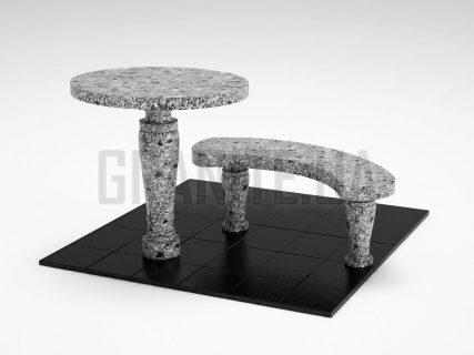 Лавка + Стіл LS-08 Костянтинівський граніт