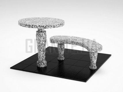 Лавка + Стіл LS-08 Покостівський граніт