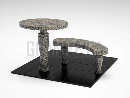 Лавка + Стіл LS-08 Рогівський граніт