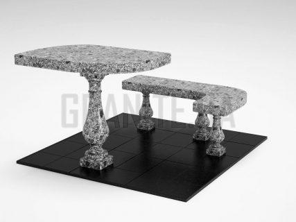 Лавка + Стіл LS-09 Костянтинівський граніт