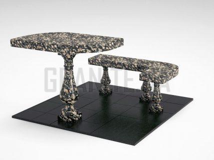 Лавка + Стіл LS-09 Корнинський граніт