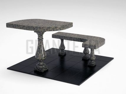 Лавка + Стіл LS-09 Маславський граніт