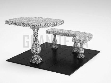Лавка + Стіл LS-09 Покостівський граніт