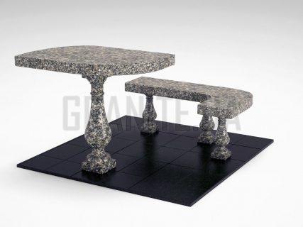 Лавка + Стіл LS-09 Танський граніт