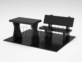 Лавка + Стіл LS-10 Букинський габро