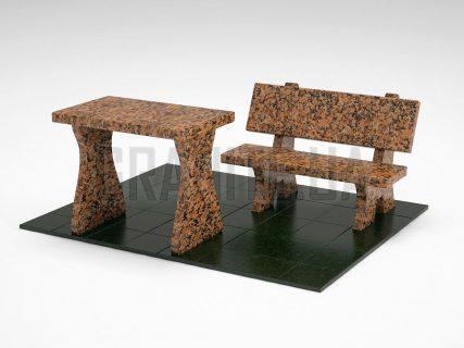 Лавка + Стіл LS-10 Омел'янівський граніт